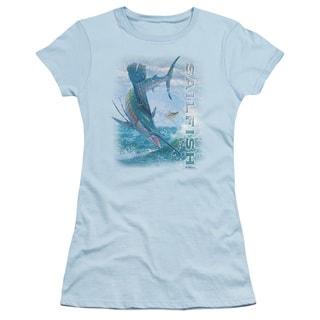 Wildlife/Leaping Sailfish Junior Sheer in Light Blue