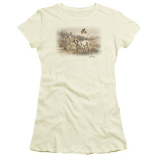 Wildlife/Pointer & Bobwhite Quail Junior Sheer in Cream