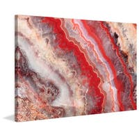 Marmont Hill 'Red Rhodochrosite' Painting Print on Canvas - Multi-color