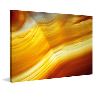 Marmont Hill 'Golden Waves' Painting Print on Canvas