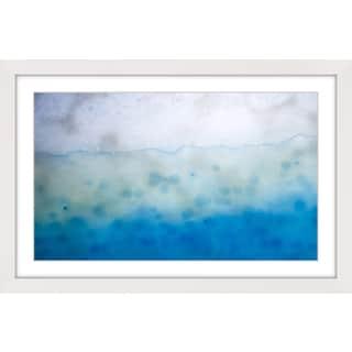 Marmont Hill 'Blue Liquid' Framed Art Print