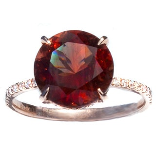 California Girl Jewelry Oregon Copper-Bearing Sunstone & Diamond Gold Ring