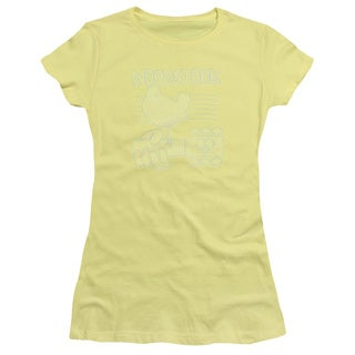 Woodstock/Liney Logo Junior Sheer in Banana