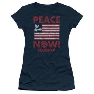 Woodstock/Peace Now Junior Sheer in Navy