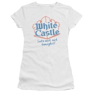 White Castle/Lets Eat Junior Sheer in White