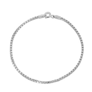 Gioelli Sterling Silver Box Chain Bracelet