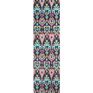 "Hand-Tufted Softique Finnoula Multi Polyester Rug (2'3"" x 8')"