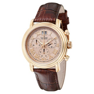 Charmex Men's Brown Leather Quartz Watch