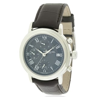 Raymond Weil Men's Brown Leather Stainless Steel Automatic Watch|https://ak1.ostkcdn.com/images/products/11910020/P18802378.jpg?impolicy=medium