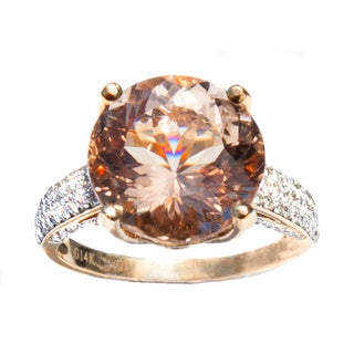 California Girl Jewelry Round Morganite Ring