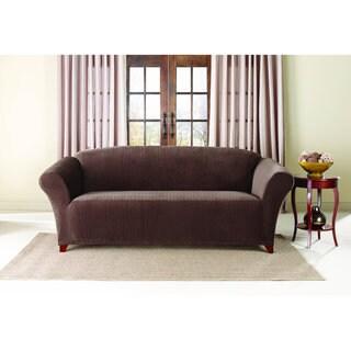 Sure Fit 1-Piece Stretch Pinstripe Stretch Sofa Slipcover