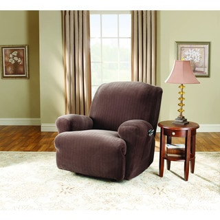 Sure Fit 1-Piece Stretch Pinstripe Stretch Recliner Slipcover