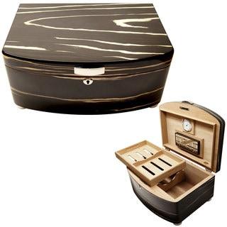 Cuban Crafters Exclusivo Black Cigar Humidors