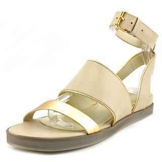 Pour La Victoire Women's Sabina Off-white Leather Flat Sandals