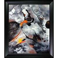 Celito Medeiros 'Abstract IV' Hand Painted Framed Canvas Art