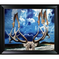Celito Medeiros 'On Point' Hand Painted Framed Canvas Art
