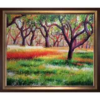 Celito Medeiros 'The Grove' Hand Painted Framed Canvas Art