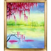 Susan Art 'Fantasy' Hand Painted Framed Canvas Art