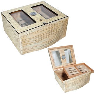 Cuban Crafters Moderno Blanco Grande White Ice 120-cigar Humidor|https://ak1.ostkcdn.com/images/products/11910159/P18802439.jpg?impolicy=medium
