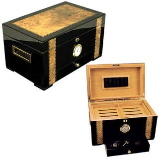 Cuban Exotica Moderno Black Apricot Large 120-cigar Humidor|https://ak1.ostkcdn.com/images/products/11910163/P18802440.jpg?impolicy=medium