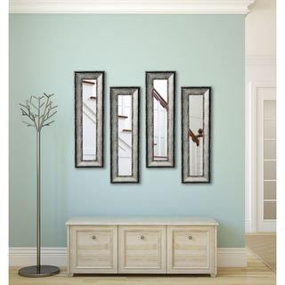 American Made Sterling Charcoal Panel Mirrors - Silver/Grey
