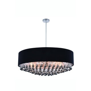 Elegant Lighting Metro 35-inch Pendant Lamp with Chrome Finish and Royal Cut Crystal