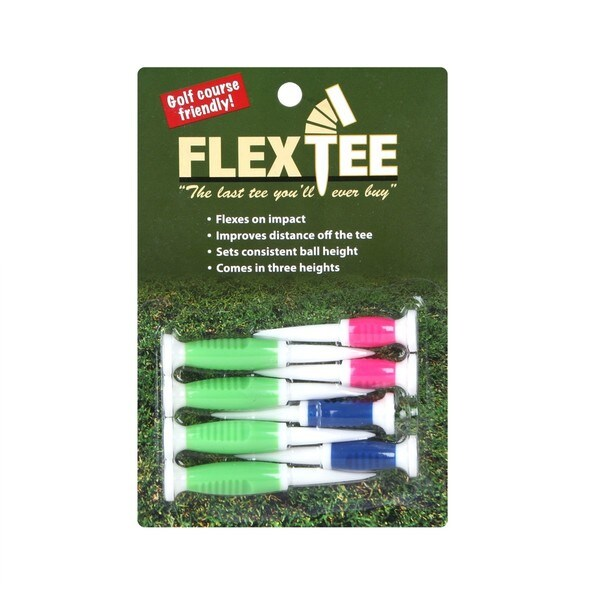 Flex Tee Flourescent Flexible Golf Tees (Pack of 8)