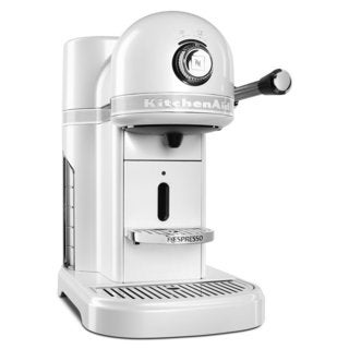 Nespresso by KitchenAid KES0503FP Frosted Pearl White Metal Espresso Machine