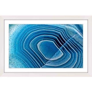 Marmont Hill 'Blue Bulls-Eye' Framed Art Print