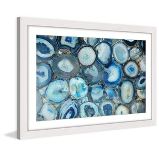 Marmont Hill 'Blue Geode Bunch' Framed Art Print