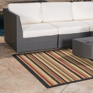 Christopher Knight Home Roxanne Aaron Indoor/Outdoor Brown Stripe Rug (7' x 10')