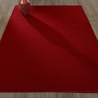 Sweet Home Stores Clifton Red/Black/Grey Solid Color Area Rug, 5' x 7' - 5' x 7'