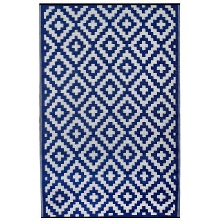 Woven Premiere Home Blue Outdoor Rug (4' x 6')