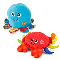 Shake'N Dance Blue/Red Fabric Octopus and Crab