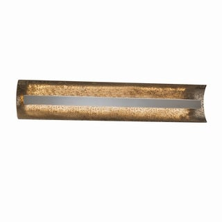 Justice Design Group Fusion Contour 29 inch Linear LED Nickel Bath Bar, Mercury Glass