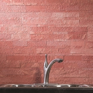 Aspect 6 x 24-inch Autumn Sandstone Peel and Stick Stone Backsplash