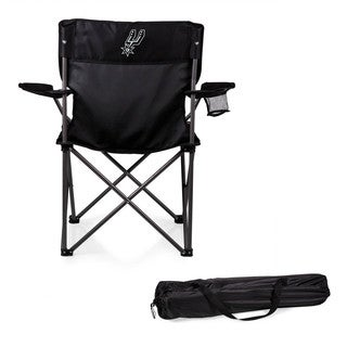 Picnic Time San Antonio Spurs Black Metal and Polyester Camping Chair