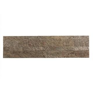 Aspect 5.9 x 23.6-inch Tarnished Quartz Peel and Stick Stone Backsplash (2 options available)