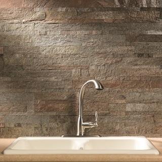 Link to Aspect 6 x 24-inch Tarnished Quartz Peel and Stick Stone Backsplash Similar Items in Sinks