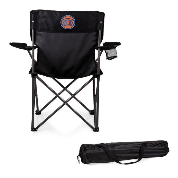Picnic Time New York Knicks PTZ Black Metal, Polyester Portable Camp Chair