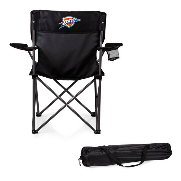 Picnic Time Oklahoma City Thunder Black Polyester and Metal PTZ Camp Chair
