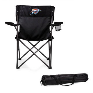 Picnic Time Oklahoma City Thunder Black Polyester and Metal PTZ Camp Chair