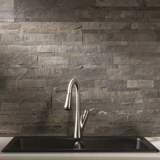 Aspect 6 x 24-inch Iron Slate Peel and Stick Stone Backsplash|https://ak1.ostkcdn.com/images/products/11910657/P18802788.jpg?impolicy=medium