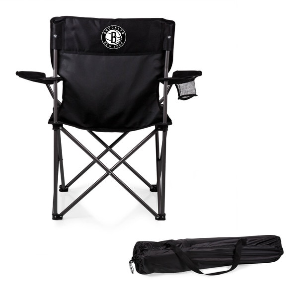 Picnic Time Brooklyn Nets Black Polyester/Metal PTZ Camp Chair