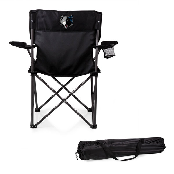 Picnic Time Minnesota Timberwolves Black Polyester/Metal PTZ Camp Chair