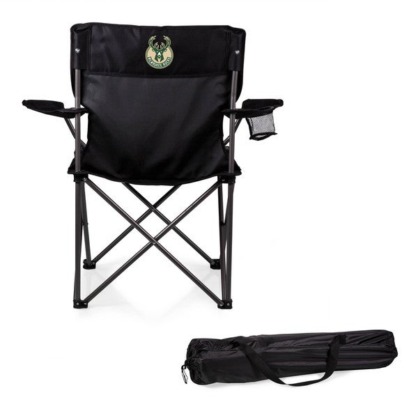 Picnic Time Milwaukee Bucks Black PTZ Camp Chair