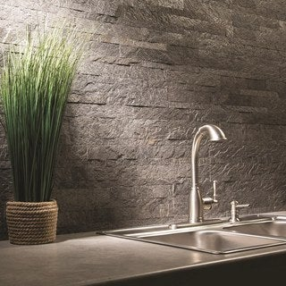 Link to Aspect 6 x 24-inch Frosted Quartz Peel and Stick Stone Backsplash Similar Items in Tile