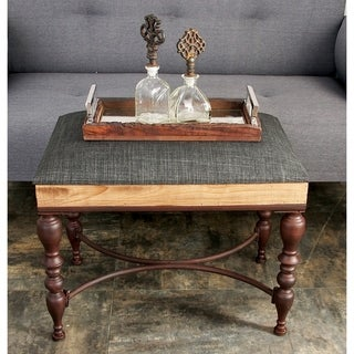 Decorative Metal Wood Ottoman
