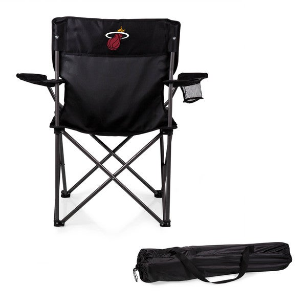 Picnic Time Miami Heat Black Polyester and Metal PTZ Camp Chair