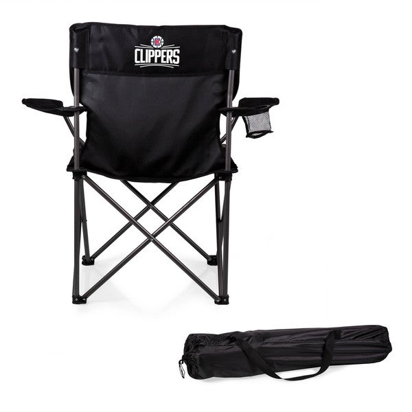 Picnic Time Los Angeles Clippers PTZ Black Polyester/Metal Camp Chair